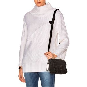 Rag & Bone Ivory Bry Wool Blend Turtleneck Sweater